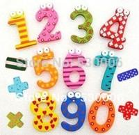 Creative Wooden Cartoon Fridge Magnet Sticker Refrigerator Magnetic 10Number Figure Kitchen Decor Kid's Funny Education Toy