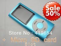 "1.8"" LCD 4th Digita MP3 MP4 Player Video FM Radio Picture E-Book for 2GB 4GB 8GB 16GB SD TF memory Card + 5pcs/lot free shipping"