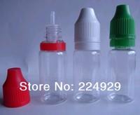 Free shipping,10ml clear PET bottle, plastic bottle, dropper bottle