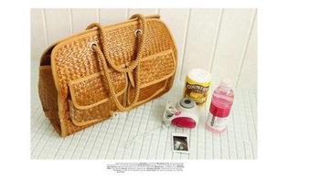 Womens Summer Straw Large Beach Basket Tote Bag Handbag Purse