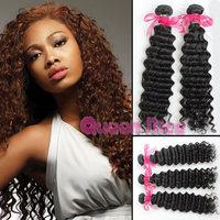 Brazilian curly virgin hair cheap brazilian deep wave natural color kinky curly virgin hair weave