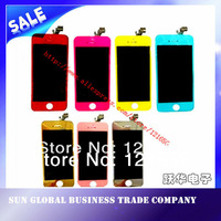 Plating mirror color  full conversion kits assembly  for iphone5  LCD digitizer assembly