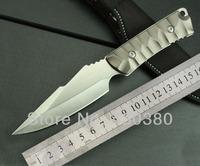SJ-K605 Knives Straight Knife Outdoor Survival Camping Hunting Tactical Knife Free Shipping aluminium fixed blade 0691#