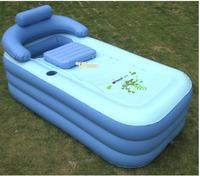 Deluxe thickened PVC spa portable air bathtub, enjoyable bath. brand large size inflatable bath tub with cushion and an air pump