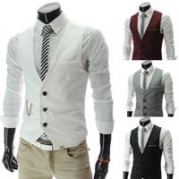 Vest Men 2014 Autumn Slim Brand Men's Casual Suit Vest Waistcoats Vests Undershirt Men Gilet Colete Fashion Chaleco Hombre R1110