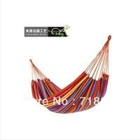 Widening thickening canvas hammock double outdoor hammock parachute cloth mesh hammock