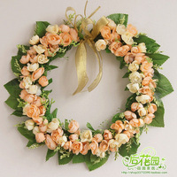 New arrival decoration wedding props silk flower arch floral wall decoration garland, 35 cm wreath