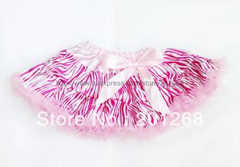 10pcs per lot New Baby Kids Girls Dancewear Tutu Pettiskirt  Girls Zebra Print Pettiskirt Princess Skirt Free shipping