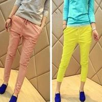 Women's summer female lacing casual trousers fashion harem pants trousers skinny pants female