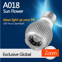 A018 Sun Flower E27 LED focusable spotlight master bedroom lighting fixtures from LEDing the life, free shipping