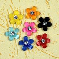 200 pcs/lot  nail art decorations 3d nail art supplies diy nail resins flower 5 petal flower daisy flower 7 colors