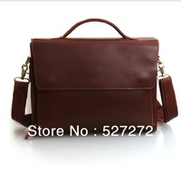 Tiding leather bag for men 2013 New Men's Leather First layer leather Shoulder messenger Cross-section Bag Retro  Men Briefcase