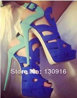 blue fashion high heel women sandals, strap