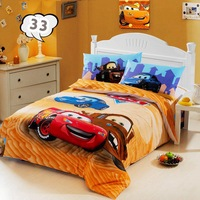 100% COTTON kids car BEDDING SET Baby children boy cartoon bed set gril duvet cover set twin size linens bedclothes#30-4