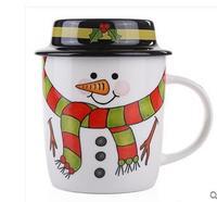 Ultralarge ceramic mug milk cup glass snowman cup