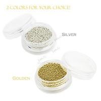 20sets/Lot New 1mm Silver Metallic Caviar Beads Studs Nail Art Glitter Nail Decoration 13229