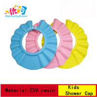 KC023[High quality protects] Solid EVA resin Kids Bath Shower Cap 3 Color