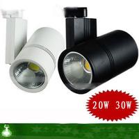 Lighting cob led track lighting 20w30w guide rail slide spotlights hindchnnel po