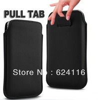 S01 100pcs/lot Free Via DHL Hot New PU leather Pouch Sleeve Bag Pull Tab Case for Samsung Galaxy S4 SIV i9500 Phone Case