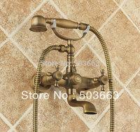 Wholesale Rain Shower Faucet Mixer Tap Antique Brass Bath Shower Faucet Set S-021