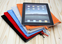 New solid flannelet bag flat protective sleeve tablet case cover For ipad 2 3 4 For samsung tab 2 10.1 p7510 p7500 N8000 N8010