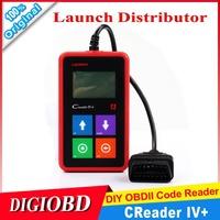 2014 New Release 100% Original Launch Creader IV+ car universal code scanner CReader IV Plus OBDII Auto Scanner CReader 4