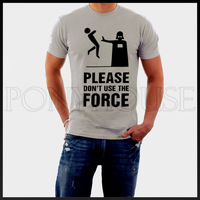DONT USE THE FORCE STAR WARS  men short sleeve T-shirt new arrival Fashion Brand t shirt for men 2013 summer