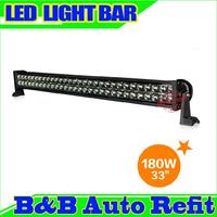 """180W 33"""" 12000 lumens Combo/Flood/Spot light High Power LED WORK LIGHT BARS SUV ATV OFFROAD 10-30V 4WD 60 Epsitar LEDS"""