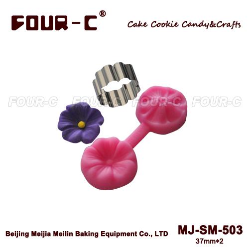 Cupcake fiore stampo in silicone, 3d stampo, tazza decorazione della torta