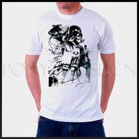 STAR WARS DARTH VADER  Black and white graffiti male short-sleeved T-shirt new arrival Fashion Brand t shirt for men 2013 summer