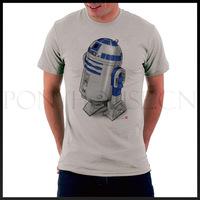 DIY Style STAR WARS R2D2 men short sleeve T-shirt new arrival Fashion Brand t shirt for men 2013 summer