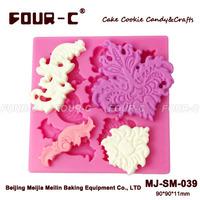 Cake decorating leaf mold,shaped silicone fondant molds,silicone cake mold maker