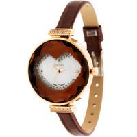 New 2014 Women Rhinestone Watches,Sexy Beauty  Lips Design Cutted Glass Round Dial Genuine Leather strap Ladies Quartz Watch