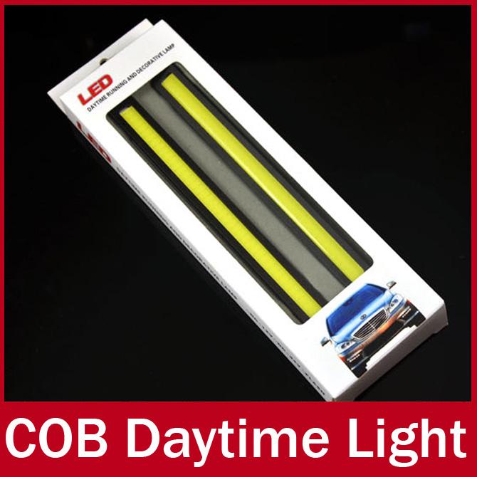 2 x 12v super luminoso bianco 6w pannocchia portato drl di marcia diurne spia alluminio chip bar pannello spedizione gratuita