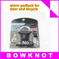 free shipping 110dB siren alarm lock for door and bicycle alarm padlock electroplate alarm lock
