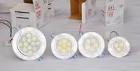 led ceiling light 1w 3w 5w 7w 9w 12w 15w LED Down Lights Ceiling Lamp Cool/Warm White 110~240V LED spot light