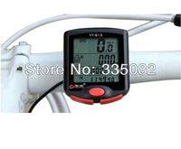 24 Functions Waterproof clock LCD Display Cycling Bike Bicycle Computer Odometer Speedometer bogeer 813 10PCS/lot