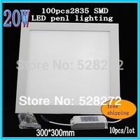 10PC 20W Square LED Ceiling Panel Down Light 300X300mm 100pcs 2835SMD AC85-265V LED Panel Light 2000LM Indoor Lighting