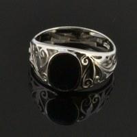 31761 black stone ring for men