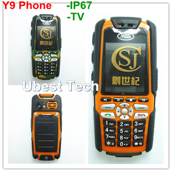 Y9 Shockproof Dustproof Waterproof Cell Phone 1.8 Inch Unlocked TV Mobile Phone Dual Sim Dual Standby JAVA FM Land Tiger