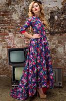 Free Shipping 2013 Top Grade US And UK Fashion Twinset Print Novelty Dresses Women