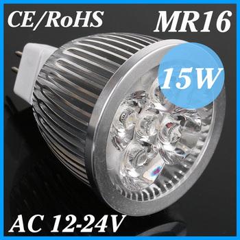 10X MR16 LED 12V 15W Led Downlights MR16 Socket Lamp Spotlight CE/RoHS High Power Energy-saving Warm/Cool white,Free Shipping