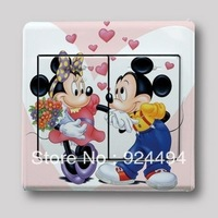 Free shipping 20pcs/lot Multicolour switch stickers cartoon wall stickers child real decoration MICKEY MOUSE