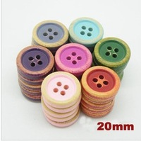 Free shipping,4 holes Natural vintage wooden buttons for garments,20mm button,buttons wood,sewing accessories(SS-7060)