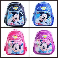 New Arrive Cheap Price Hot Sale Fashion Mickey Mouse School Bag For Children Kids School Backpack Free Shipping Christmas Gift