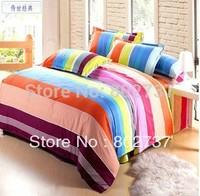 100% cotton duvet cover, slanting stripe print single/double bed sack. bedding bag,quilt cover