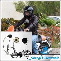 Free Shipping Open Mic motorcycle helmet headset / handset for new iphone 4 4s 5 Black