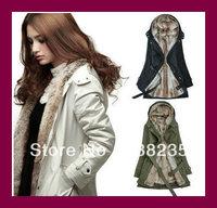 Hot sale 2013 new fashion best selling winter jacket for women thick warm women's long jackets coat S/M/L/XL/XXL/XXXL