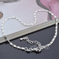 Fashion Jewelry 925 Silver Anklets High Quality Free Shipping Promotion Factory Price Fine Jewelry 10inch Anklet  A008