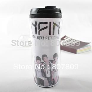 2014 hot sale top fasion curtain coffee cup crafts 5pcs/lot for free shipping 350ml cup infinite/shinee/bigbang/btob/ukiss/z:ea